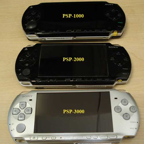 PSP 1000, 2000, 3000