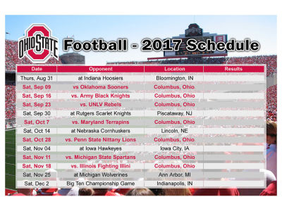 photo relating to Ohio State Football Schedule Printable identify Routine Of Ohio Place