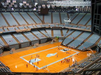 North Carolina Basketball Dean Smith Center