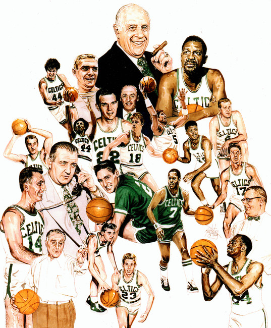 Boston Celtics Hall Of Famers Page