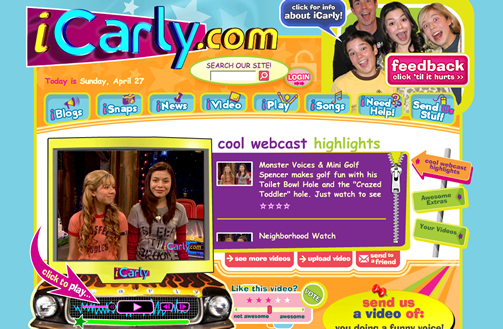 ICarly Website Page